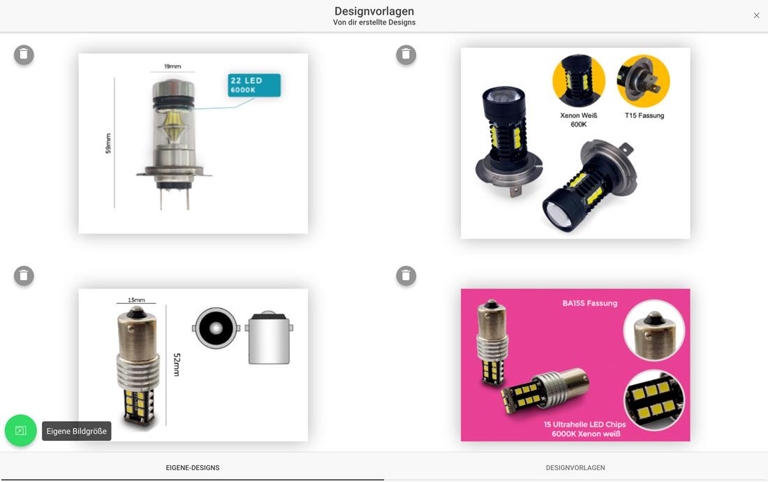 Eigene Designvorlagen speichern und wiederverwenden